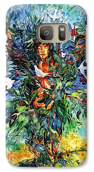 Galaxy Case featuring the painting Tree Of Life  by Trudi Doyle