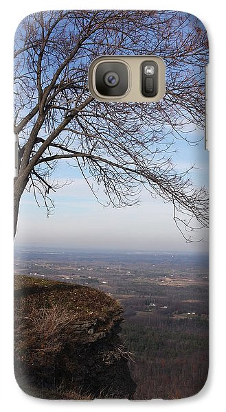 Galaxy Case featuring the photograph Tree On A Mountain Edge by Vadim Levin