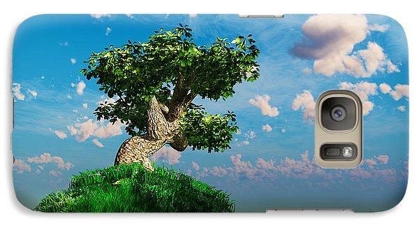 Galaxy Case featuring the digital art Tree On A Steep Hill... by Tim Fillingim