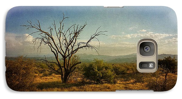 Galaxy Case featuring the photograph Tree On Caballo Trail by Marianne Jensen