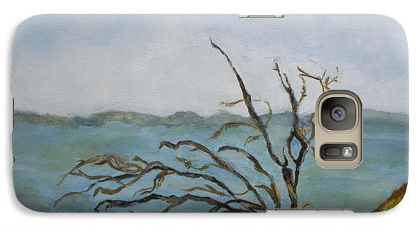 Galaxy Case featuring the painting Tree On The Hudson River by Aleezah Selinger