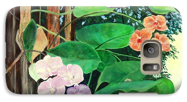 Galaxy Case featuring the painting Tree Orchids by Nancy Czejkowski