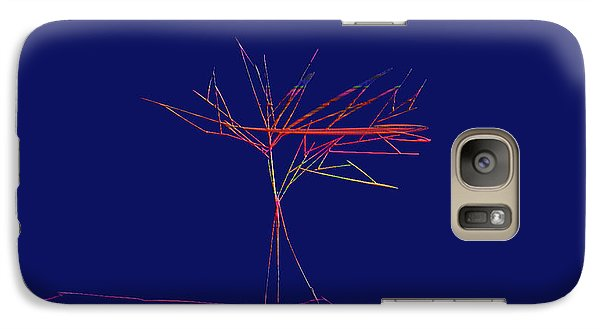 Galaxy Case featuring the digital art Tree Outline by Asok Mukhopadhyay