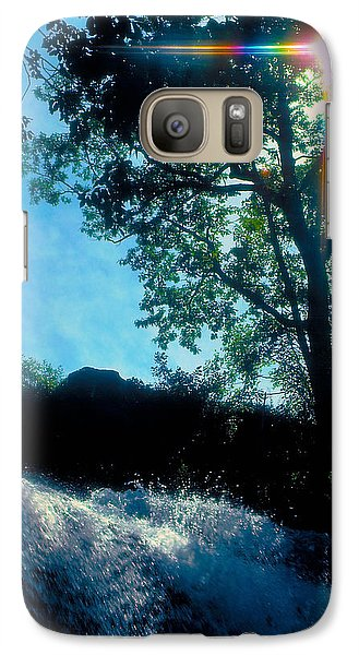 Galaxy Case featuring the photograph Tree Planted By Streams Of Water by Marie Hicks