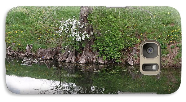 Galaxy Case featuring the photograph Tree Reflection by Mark McReynolds