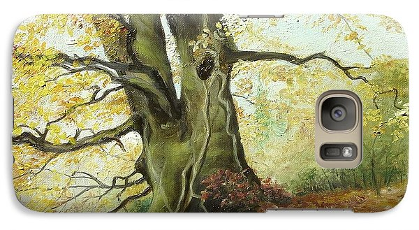 Galaxy Case featuring the painting Tree by Sorin Apostolescu