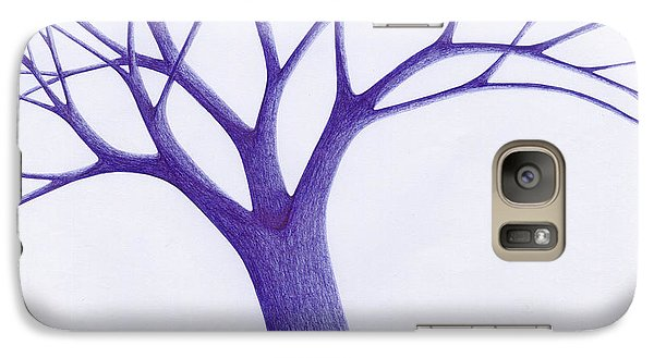 Galaxy Case featuring the drawing Tree - The Great Hand Of Nature by Giuseppe Epifani