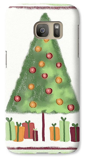 Galaxy Case featuring the digital art Tree With Presents by Arline Wagner