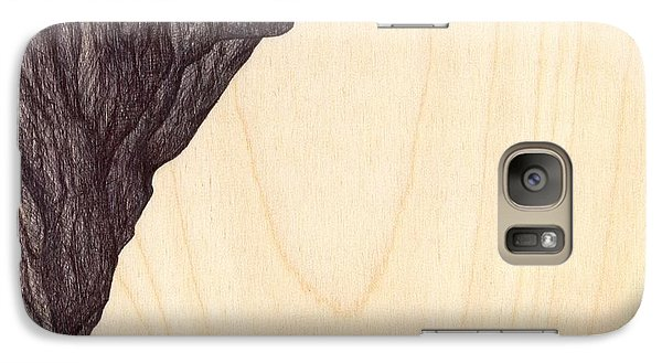 Galaxy Case featuring the drawing Treerock  by Giuseppe Epifani