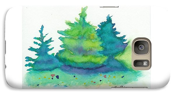 Galaxy Case featuring the painting Trees 2 by C Sitton