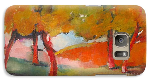 Galaxy Case featuring the painting Trees #5 by Michelle Abrams