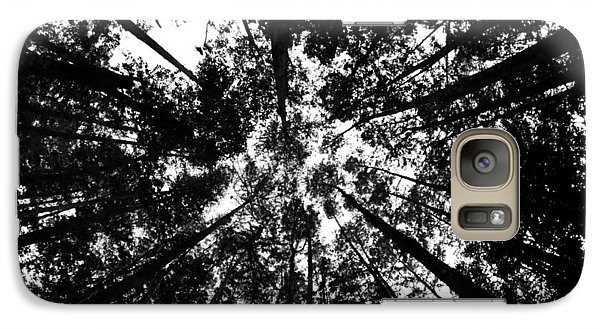 Galaxy Case featuring the photograph Trees Above Me by Daniel Woodrum