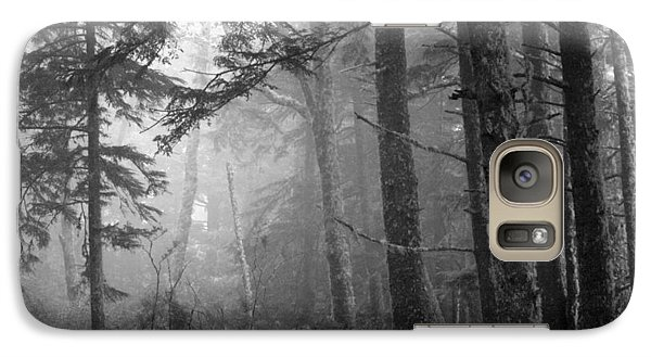Galaxy Case featuring the photograph Trees And Fog by Tarey Potter
