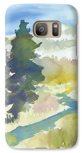 Galaxy Case featuring the painting Trees by C Sitton