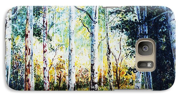 Galaxy Case featuring the painting Trees by Hartmut Jager