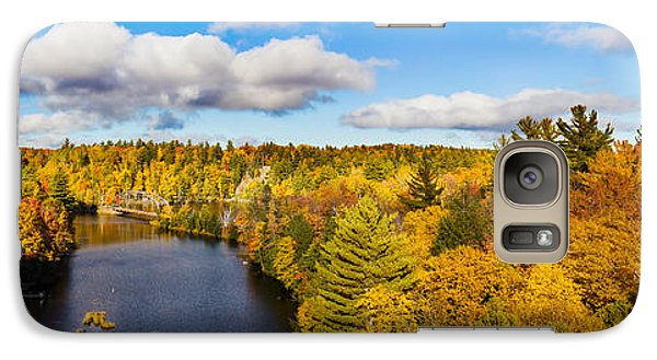 Marquette Galaxy S7 Case - Trees In Autumn At Dead River by Panoramic Images