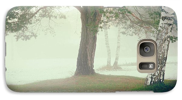 Galaxy Case featuring the photograph Trees In Fog by Silvia Ganora