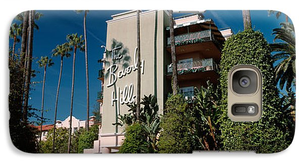 Trees In Front Of A Hotel, Beverly Galaxy S7 Case by Panoramic Images