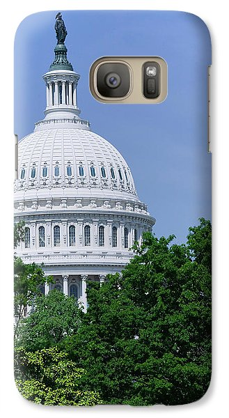 Trees In Spring And U.s. Capitol Dome Galaxy S7 Case