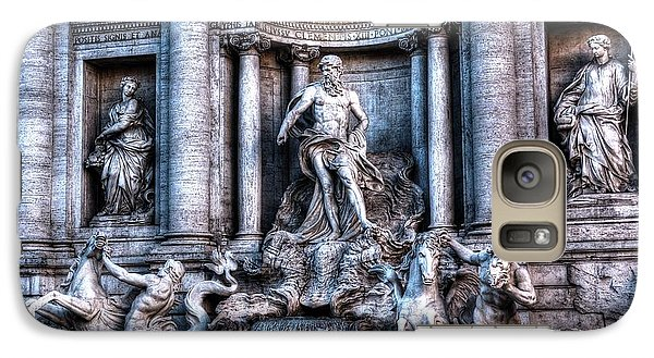 Galaxy Case featuring the photograph Trevi Fountain by Joe  Ng