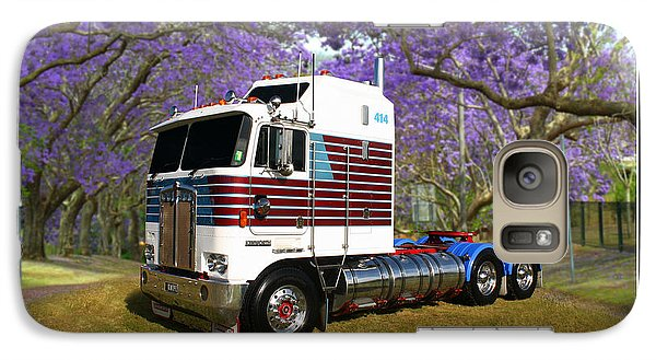 Galaxy Case featuring the photograph Trev's Kenworth by Keith Hawley