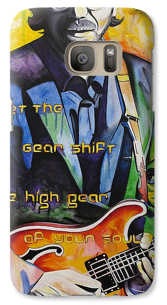 Galaxy Case featuring the painting Trey Anastasio And Antelope Lryics by Joshua Morton