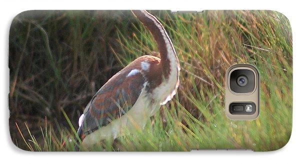 Galaxy Case featuring the photograph Tri-color Heron by Leticia Latocki