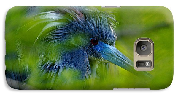 Galaxy Case featuring the photograph Tri-colored Heron Concealed    by John F Tsumas