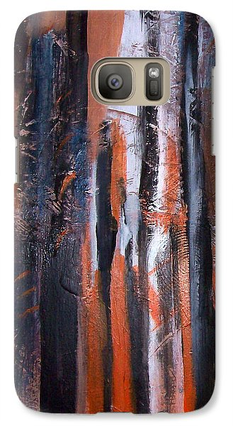 Galaxy Case featuring the painting Tribal 2 by Yul Olaivar