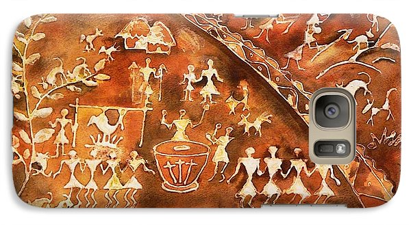 Galaxy Case featuring the painting Tribal Art by Geeta Biswas