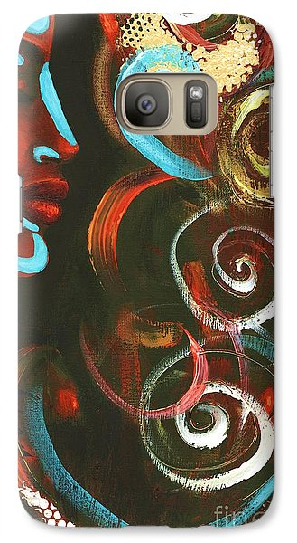 Galaxy Case featuring the pastel Tribal Celebration by Alga Washington