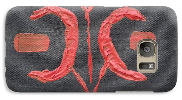 Galaxy Case featuring the painting Tribal Chilli by Martin Blakeley