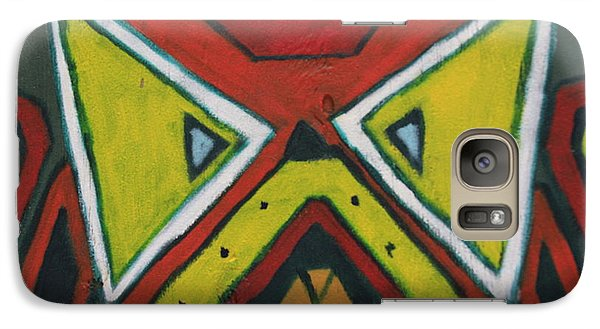 Galaxy Case featuring the photograph Tribal Mask by Jerry Bunger