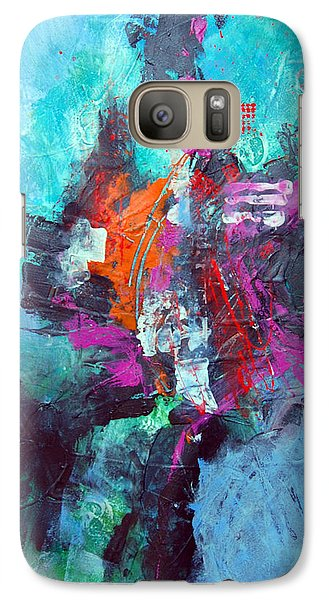 Galaxy Case featuring the painting Tribal by Ron Stephens