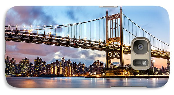 Galaxy Case featuring the photograph Triboro Bridge At Dusk by Mihai Andritoiu