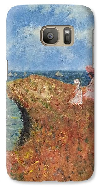 Galaxy Case featuring the painting Tribute To Monet by Kristen R Kennedy