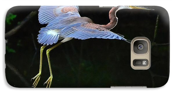 Galaxy Case featuring the photograph Tricolored Heron by Charlotte Schafer