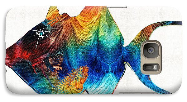 Trigger Happy Fish Art By Sharon Cummings Galaxy Case by Sharon Cummings