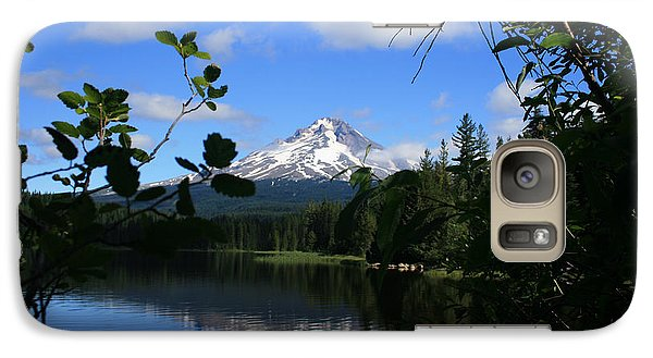 Galaxy Case featuring the photograph Trillium Lake With Mt. Hood  by Ian Donley