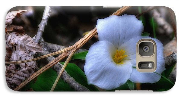 Galaxy Case featuring the photograph Trillium On County C by Trey Foerster