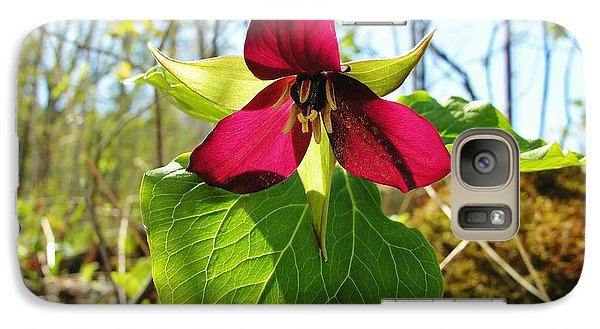 Galaxy Case featuring the photograph Trillium Wild Flower by Sherman Perry