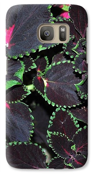 Galaxy Case featuring the photograph Trimmed In Green by Mary Beth Landis