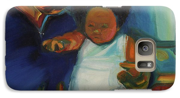 Galaxy Case featuring the painting Trina Baby by Daun Soden-Greene