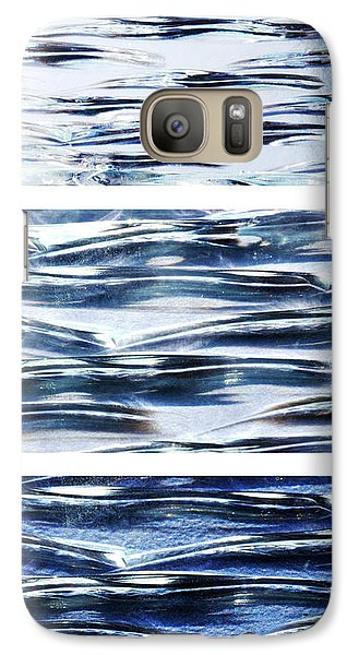 Galaxy Case featuring the photograph Trio In Blue by Wendy Wilton