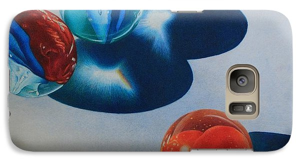 Galaxy Case featuring the painting Trio by Pamela Clements