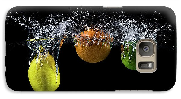 Colours Galaxy S7 Case - Triple Citrus Splash by Mogyorosi Stefan