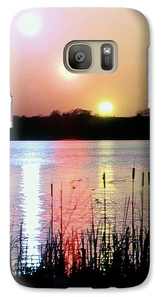 Galaxy Case featuring the photograph In Camera Triple Exposed Sunset by Christopher McKenzie