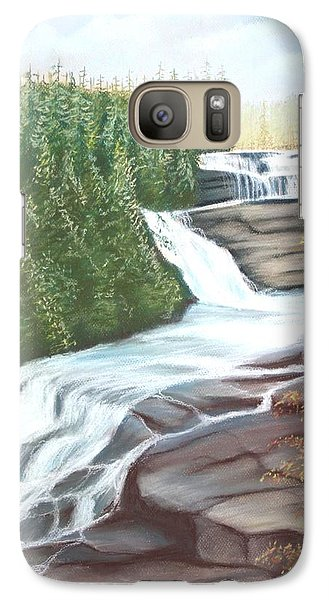 Galaxy Case featuring the pastel Triple Falls by Stacy C Bottoms