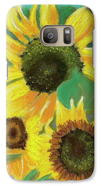 Galaxy Case featuring the painting Triple Gold by Arlene Crafton