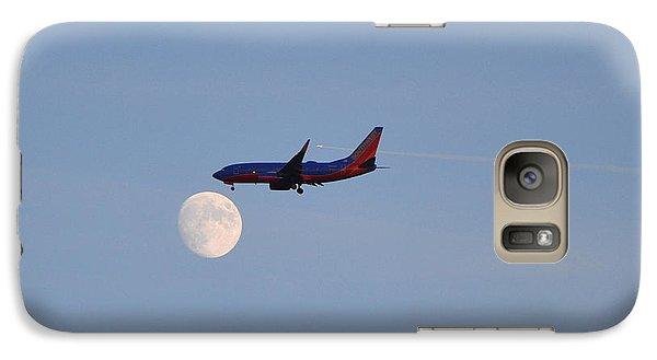 Galaxy Case featuring the photograph Southwest Airlines Flies To The Moon by Kelly Reber